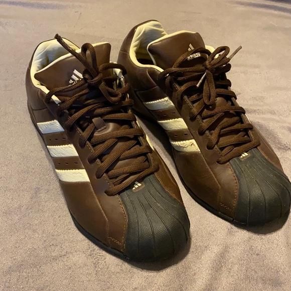 Men's brown adidas shoes 11.5